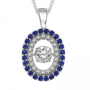 14K Sapphire & Diamond Rhythm Of Love Pendant