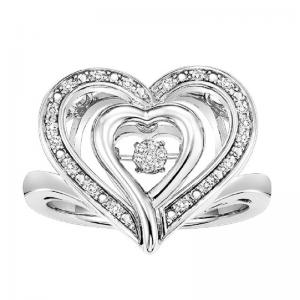 Silver Rhythm Of Love Ring