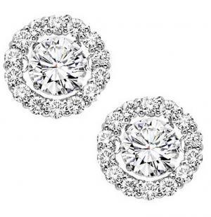 14K Diamond Rhythm Of Love Earrings 1 ctw