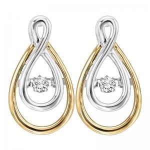 14K Diamond Rhythm Of Love Earrings 1/8 ctw