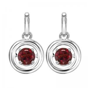 Silver Garnet Rhythm Of Love Earrings