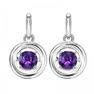 Silver Amethyst Rhythm Of Love Earrings