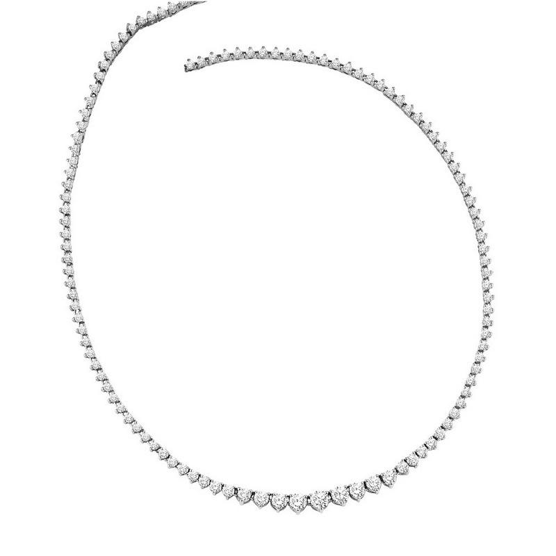 14K Diamond Necklace 5 ctw