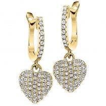 Silver Earrings Yellow