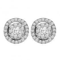 14K Diamond Earrings 1/2 ctw