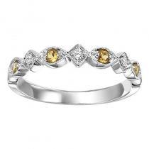 14K Citrine & Diamond Mixable Ring