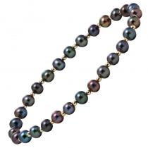 Gold Black Pearl Bracelet