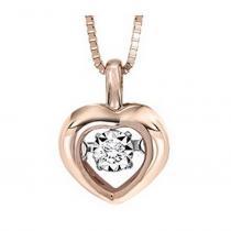 10KP Diamond Rhythm Of Love Pendant