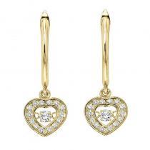 14K Diamond Rhythm Of Love Earrings 1/4 ctw