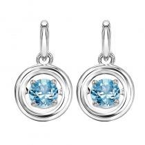 Silver Blue Topaz Rhythm Of Love Earrings