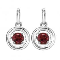 Silver Garnet Rhythm Of Love Earrings