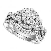 14K Diamond Engagement Ring 3/4 ctw Complete