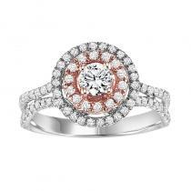 14K Diamond Engagement Ring 1 ctw Complete