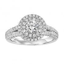 14K Diamond Engagement Ring 7/8 ctw